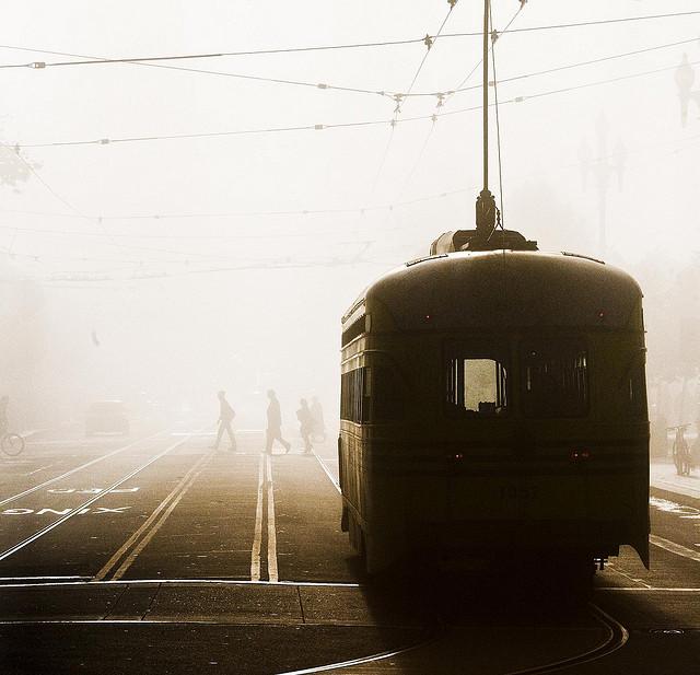 Trains in Fog