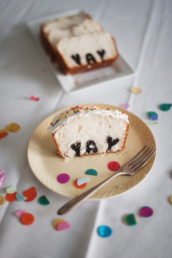 Typography Cake and Photo via A Subtle Revelry