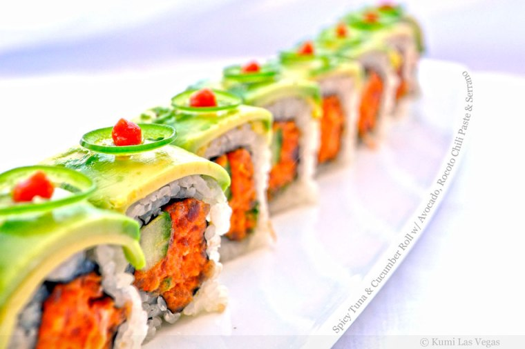spicy-tuna-and-cucumber-rolls-with-avocado-rocoto-chili-paste-serrano