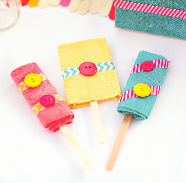 washcloth-popsicles